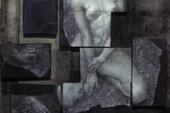 copia-di-tessere2014-olio-e-acrilico-du-tele-poste-sopra-un-drappo-di-lana-non-intelaiato-cm-100x100-circa