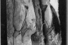 in-mezzo-alla-strada-2013-acrilico-e-inchiostri-su-tela-e-carta-50x25