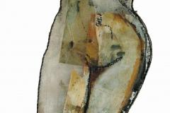 ombre-e-segni-04-olio-su-carte-e-rete-met-40x125