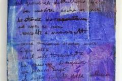 Blu scritto-2018-acrilico e inchiostri su carte e cartone-cm 123x54