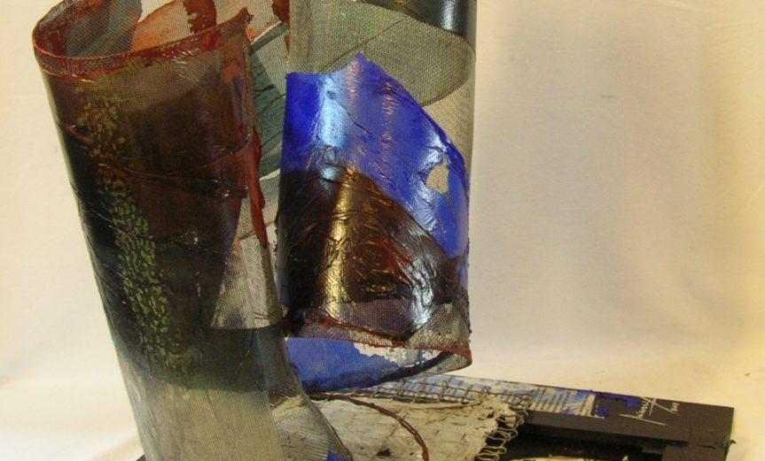 il-tubo-neurale-2011-acrilico-su-carta-e-rete-metallica-su-tela-intelaiata-cm-50x50x50-micozzi